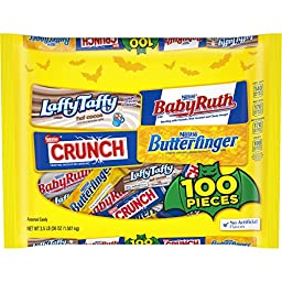 Nestle Assorted Halloween Candy Chocolate & Sugar 100 Count , 56 Ounce