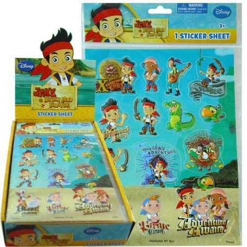 Jake And The Neverland Pirates Raised Stickers : sheet
