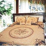DaDa Bedding YFJF-D-001-1 5-Piece Elegant Chenille Woven Bedspread, Queen, Blue