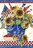 Toland Home Garden Patriotic Sunflowers Garden Flag 110048