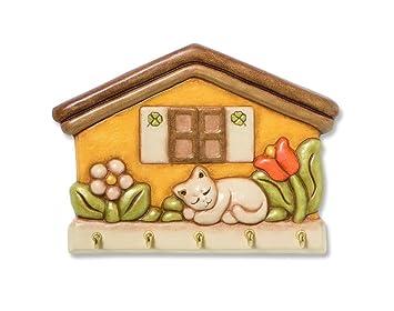 THUN APPENDICHIAVI CASETTA CON GATTO ART C764: Casa e cucina ...