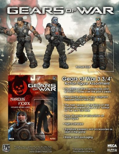 US Version NECA Gears of War 3.75 inches Action Figure Series 1 Set of 3