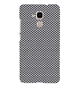 Blue Chevron Arrows 3D Hard Polycarbonate Designer Back Case Cover for Huawei Honor 5C : Huawei Honor 7 Lite : Huawei GT3