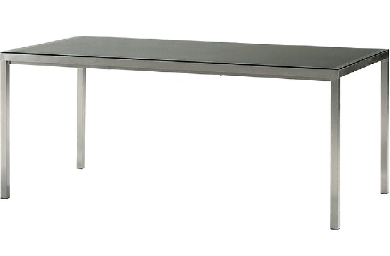 """Bukatchi Gartentisch """"X-aliber"""" aus gebürstetem Aluminium mit schwarzer Glasplatte, 160 x90 cm, 948787 günstig kaufen"""
