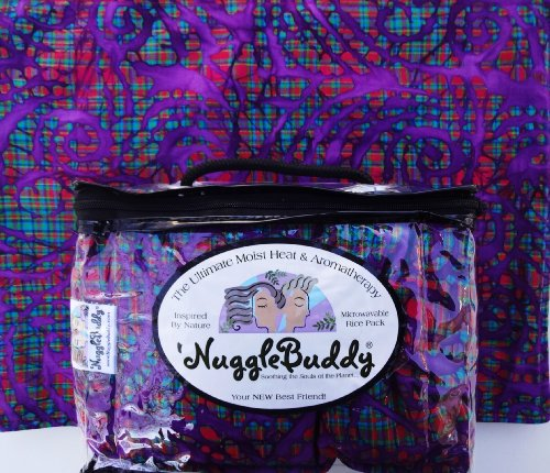 """'Nugglebuddy Microwaveable Moist Heat & Aromatherapy Organic Rice Pack. Gorgeous """"Stained Glass"""" Fabric! Spearmint Eucalyptus Aromatherapy. We Ship Express! Say Hello To Your New Best Friend!"""