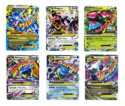 Mega Ex Cards Set of 6 Cards Platinum Card Series Charizard Blue Dragon Set (Platinum Card compare prices)