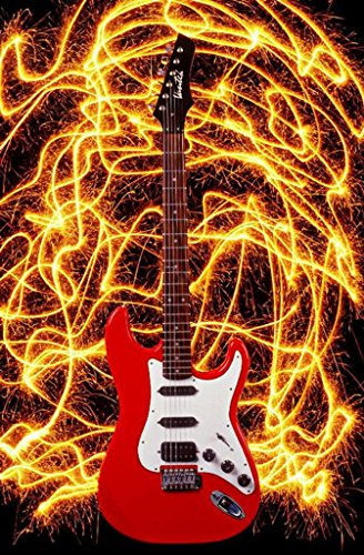 Eden Art-Electric Guitar Abstract Wall Canvas Art Sets Painting For Home Decoration Oil Painting Style Modern Art Large Canvas Wall Art One Piece Canvas Art Unstretch And No Frame 24*36Inch