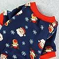 Fitwarm Christmas Santa Thermal Dog Pajamas Pet Clothse Fleece Coat Jumpsuit Blue