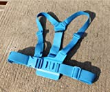JMT 1Piece Adjustable Pectoral Girdle Chest Fitted Shoulder Strap Belt Mount Harness Blue for Gopro HD Hero 3 2 Camera