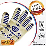 Highest Rated Oven Gloves Heat Resistant l Best Oven Grilling Gloves For High Heat Cooking BBQ Camping Baking Supplies l Protection Up To 932°F 500°C l EN407 Compliance l FREE Best Grilling eBook