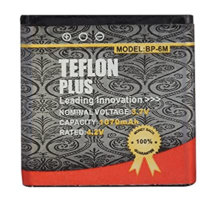 Teflon-Plus-1070-Mah-Lithium-Ion-Battery-for-Nokia-Bp-6M-3250-XpressMusic-6151-6233-6234-6280-6288-9300-9300i-N73-N77-N93-N97-3250