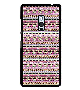iFasho Triangular Pattern Back Case Cover for One Plus Two