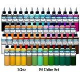 54 Color Set - Intenze Tattoo Ink - 1/2oz Bottles