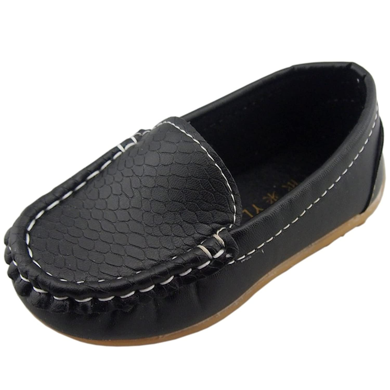 DADAWEN Boy's Girl's Slip-on Loafers Oxford Shoes