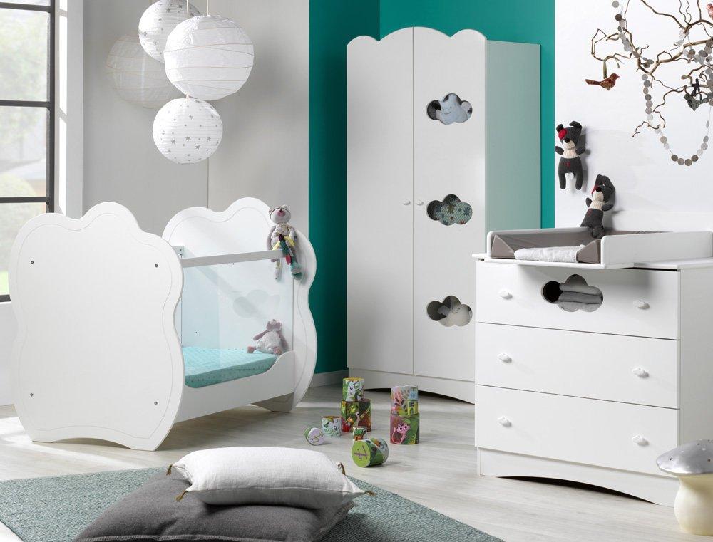Babyzimmer komplett Altea weiß mit Wickelfläche