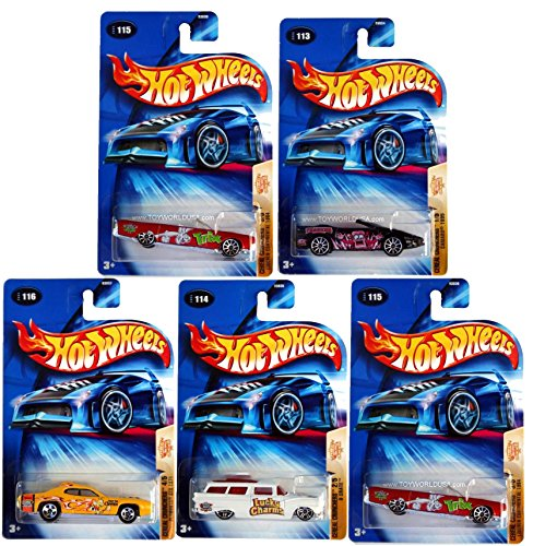 Hot Wheels 2004 Cereal Crunchers 5-Car Set: 1995 Camero (Frankenberry), 8-Crate (Lucky Charms), 1984 Lincoln Continental (Trix), 1971 Plymouth GTX (Honey Nut Cheerios), 1967 Pontiac GTO (Cocoa Puffs) (Pontiac Charm compare prices)