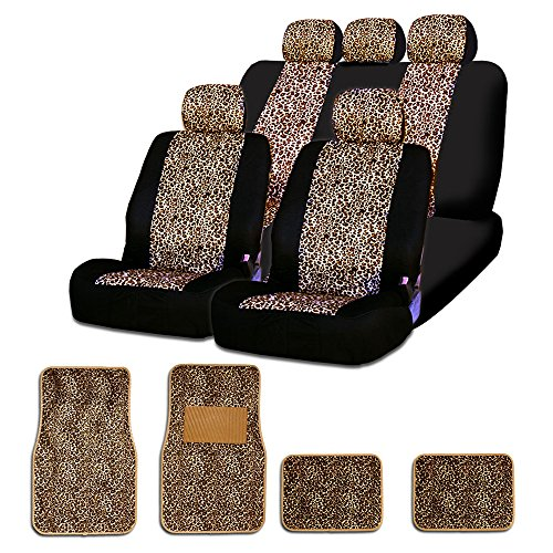 COMMART CHEETAH MESH ANIMAL PRINT CAR TRUCK SEAT COVERS MATS SET FOR HONDA SHIPS FROM USA (Superwoman Car Mats compare prices)