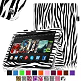Fintie Slim Fit Leather Cover Folio Case for 8.9 inch Amazon Kindle Fire HDX - Zebra