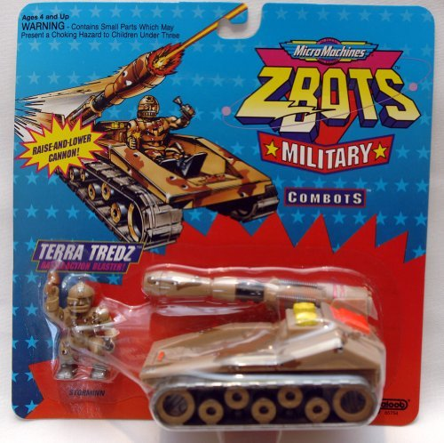 Vintage Micro Machines Z-Bots Military Combats Terra Tredz - 1