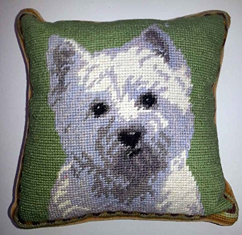 West Highland White Terrier Dog Needlepoint Pillow 10