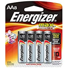 Energizer Max Performance Alkaline AA, 8 Pack Batteries, 8-Count