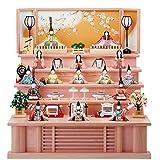 雛人形 一秀 木目込み人形 十五人飾り 五段飾り さくらさくら C-108