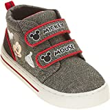 Mickey Mouse Boys Toddler Casual Shoe Sneaker (9 M US Toddler, Gray/red) (Color: Gray/Red, Tamaño: 9 M US Toddler)