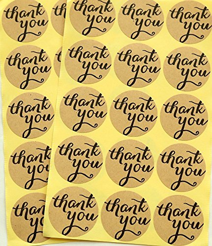 ctk-thank-you-kraft-sticker-labels-seals-diameter-38cm-seal-stickerspack-of-400-pcs