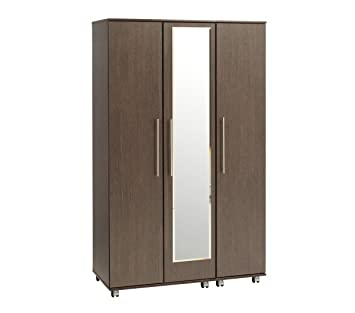 Treat Your Home New Orleans 3 Door Plus Mirror Wardrobe, Wood, Beech