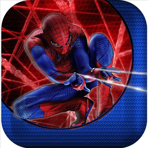 The Amazing Spider-Man 3D Square Dessert Plates (8) Party Accessory