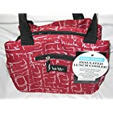 "Nicole Miller of New York Insulated Lunch Cooler- Red 11"" Lunch Tote"