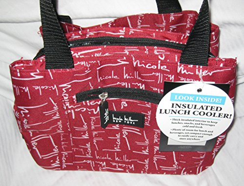 nicole-miller-of-new-york-insulated-lunch-cooler-red-11-lunch-tote