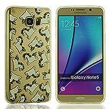 Schlank Samsung Galaxy Note 5 Schutzhülle Hülle - Kleine weiße Pferd Bild Kleine Augen Entwurf (Augen bewegen kann) - Klar Transparent
