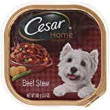 Cesar Home Delights Beef Stew Flavor Wet Food Tray for Small Dogs, 3.5-Ounce, 24-Pack