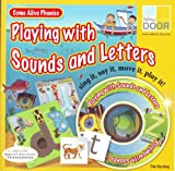 Playing With Sounds and Letters - Come Alive Phonics Sing It Say It Move It Play It - Book CD Playing Cards And Painted Wooden Characters