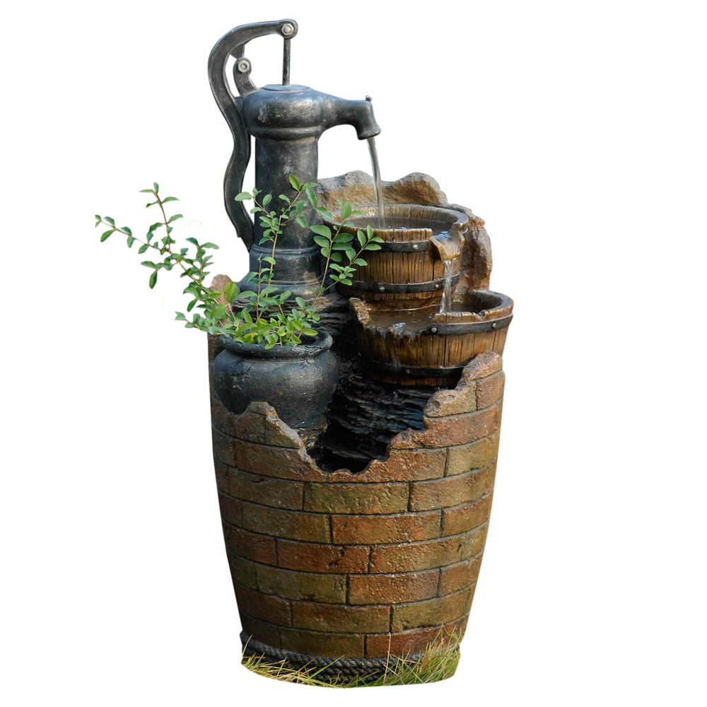 Glenville Water Pump Cascading Water Fountain Home Decor
