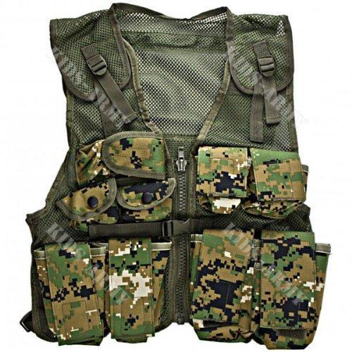 Kids Army Combat Vest - Woodland Digital front-842962