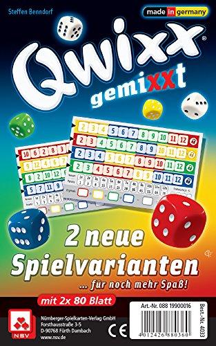 Nürnberger-Spielkarten 4033 - Qwixx Gemixxt - neue Spielvarianten, 2-er Set Blöcke von Nürnberger-Spielkarten