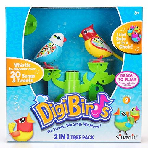 Silverlit 88239 - albero gioco uccello digi 2-in-1, cui 2 uccelli, animali elettronici