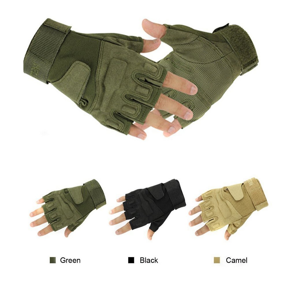Muyankissu(TM) Special Wicking Shockproof Mountain Half Finger Glove Tri-color Optional Outdoor Sports Gloves Men' Cycling Short Glove half mountain