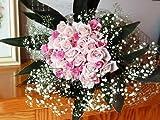 ビックリするこのボリューム♪バラとかすみ草の花束 【フラワーギフト 還暦祝い 退職祝い 誕生日プレゼント 女性 彼女】