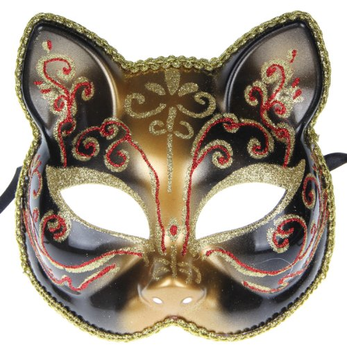 Halloween Christmas Fancy Dress Cat Party Mask Mardi Gras Masquerade