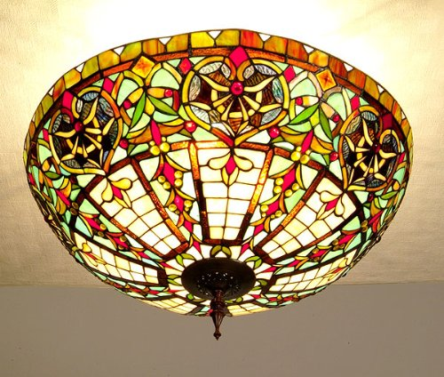 Tiffany Style Ceiling Lamp, Chandelier -Big Oriental-