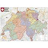 Schweiz Postleitzahlen Wandkarte / Poster