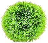 uxcell ボールプラント 人工水草 水族館プラント 水槽用プラント プラスチックプラント人工植物 グリーングラス 9 x 10cm