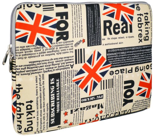 13 inch Union Jack Flag Notebook Laptop Sleeve