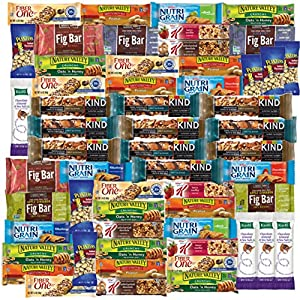 Healthy Bars Care Package Office Assortment Includes Kind Bar, Kashi, Fig Bars, Nature Valley & More (56 Count)