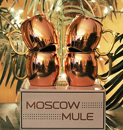 Craft cocktails gift box of moscow mule mugs set of 4 for Craft cocktail gift set