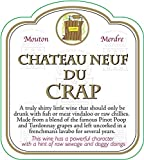 Novelty Wine Bottle Labels - Chateau Neuf Du Crap