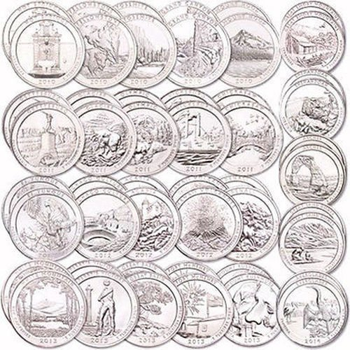 2010-P-state-parks-quarters-2010-P-National-park-quarter-National-Park-Quarters-Set-2010-2015-With-Folder-Uncirculated-FREE-GOLD-COIN-Uncirculated